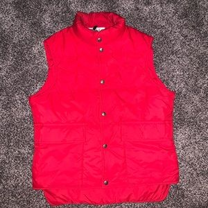 Vintage Woolrich puffer down USA vest red small